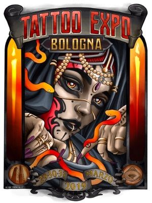 2 Alo Loco realistic black and grey full sleeve tattoo expo bologna march 2019