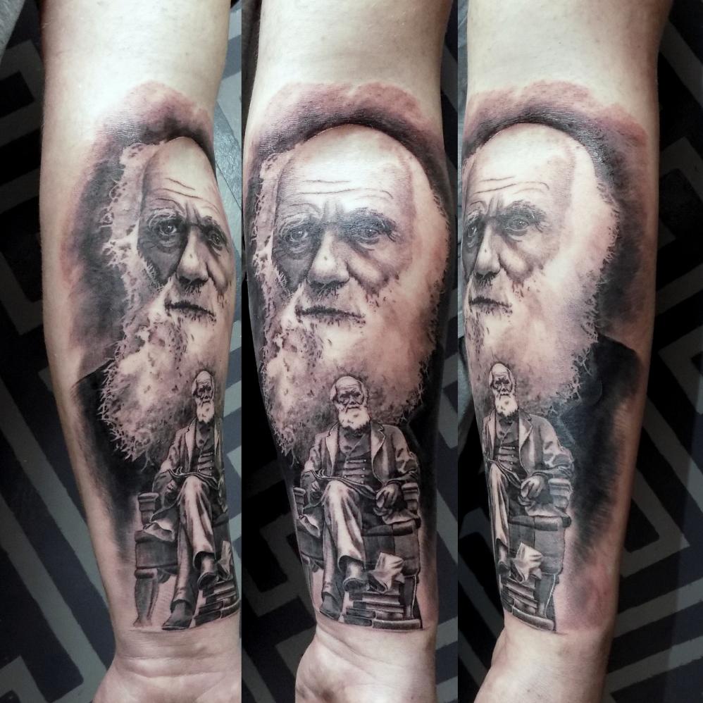 CHARLES DARWIN | ALO LOCO TATTOO